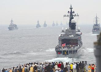 前回(2012年)行われた体験航海の様子