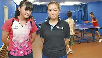 代表の田中由紀子さんと(右)とスクール生