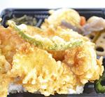 旬の食材を使った海鮮天丼