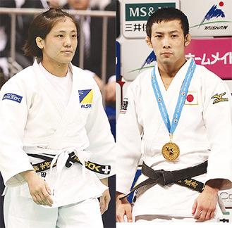 リオで優勝した田知本選手(左)銅メダルの高藤選手