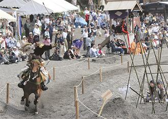 観客も圧巻、人馬一体の技