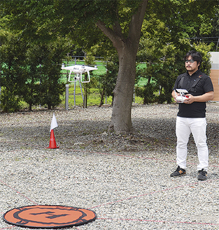 周りに住宅がない場所に練習場を開設した堂城川さん