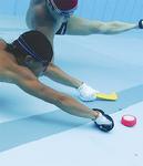 水中で競り合いながらゴールへ