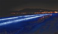 逗子海岸で光のアート