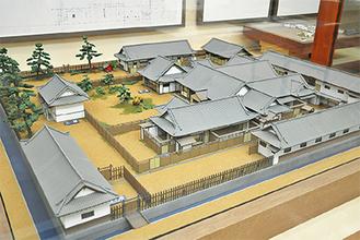 浦賀の郷土資料館に展示されている「浦賀奉行所」復元模型