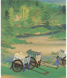 山口蓬春《緑庭》昭和2年(1927) 同館蔵