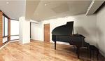 グランドピアノ完備のスタジオ