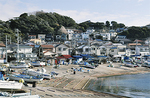 小坪漁港の風景。江戸中期には「小坪千軒」と称され、隆盛を誇った