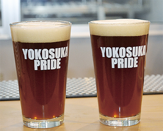 地場産のこだわりを記した「YOKOSUKA  PRIDE」の文字が目を引く
