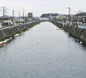 プレジャーボートが完全撤去された平作川