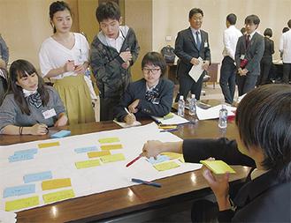関東学院大学の学生を交えたグループディスカッション