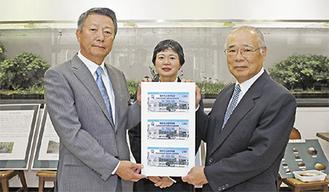 佐井憲雄組合長(左)と森田常夫理事長
