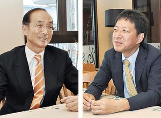 中島院長(左)と鈴木社長