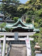 西叶神社で「仮殿遷座祭」