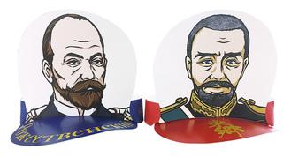 ロジェストヴェンスキーと東郷のサンバイザー
