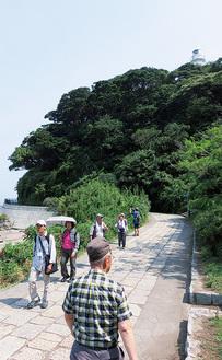 コースの一部である観音崎公園
