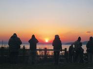 猿島で迎える初日の出