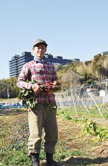 「SHO FARM」と名付けた長沢の畑で