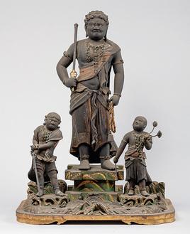 木造不動明王及二童子立像(常福寺)