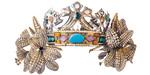 デザイン:アルフォンス・ミュシャ/制作:ルネ・ラリック《舞台用冠 ユリ》1895年頃、箱根ラリック美術館蔵