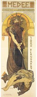 アルフォンス・ミュシャ《メディア》1898年、リボリアンティークス蔵