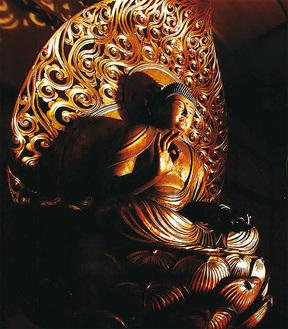 迫力の阿弥陀仏を間近に見ることができる