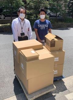 共済病院を直接訪問。右が早川代表理事