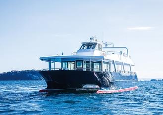 無人運航の実験船となるトライアングルの旅客船