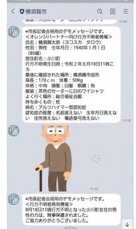 LINE配信画面のイメージ(横須賀市提供)