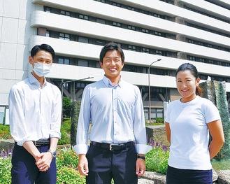 代表理事の3人。左から山中さん、高橋さん、松田さん