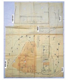 平根山台場絵図(117.5×109cm)