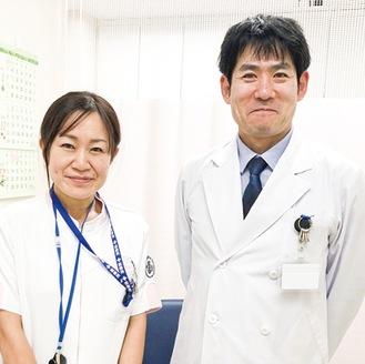 橋本教授(右)と伊藤管理栄養士