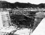 浦賀船渠創設期の当初工事写真(=横須賀市自然・人文博物館所蔵)