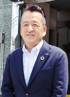 胸のSDGsバッジがキラリと光る本田社長