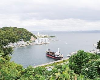 プロジェクトの舞台となる浦賀湾の眺望