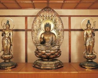 公開される運慶仏(浄楽寺提供)