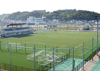 市内初の公式サッカー場