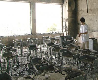 震災記録映画を上映