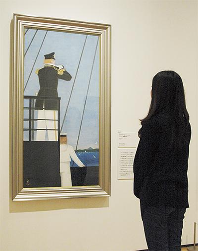 海辺で日本画鑑賞の贅沢