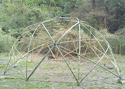 竹でドームを作ろう