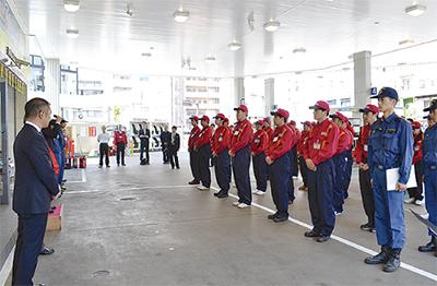 消防局と連携訓練