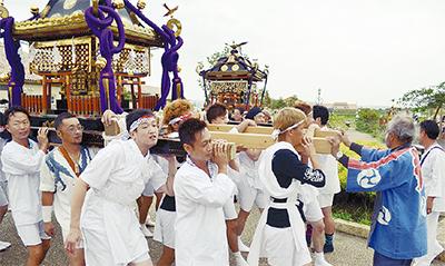 復活の神輿今年は2基