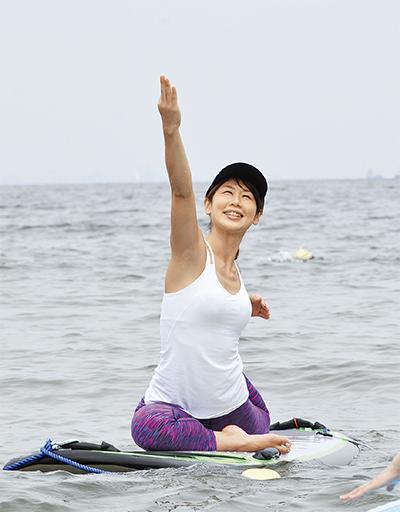 揺れる海面、体幹力アップ