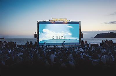 一夜限りの野外映画祭
