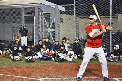 ベースで野球教室