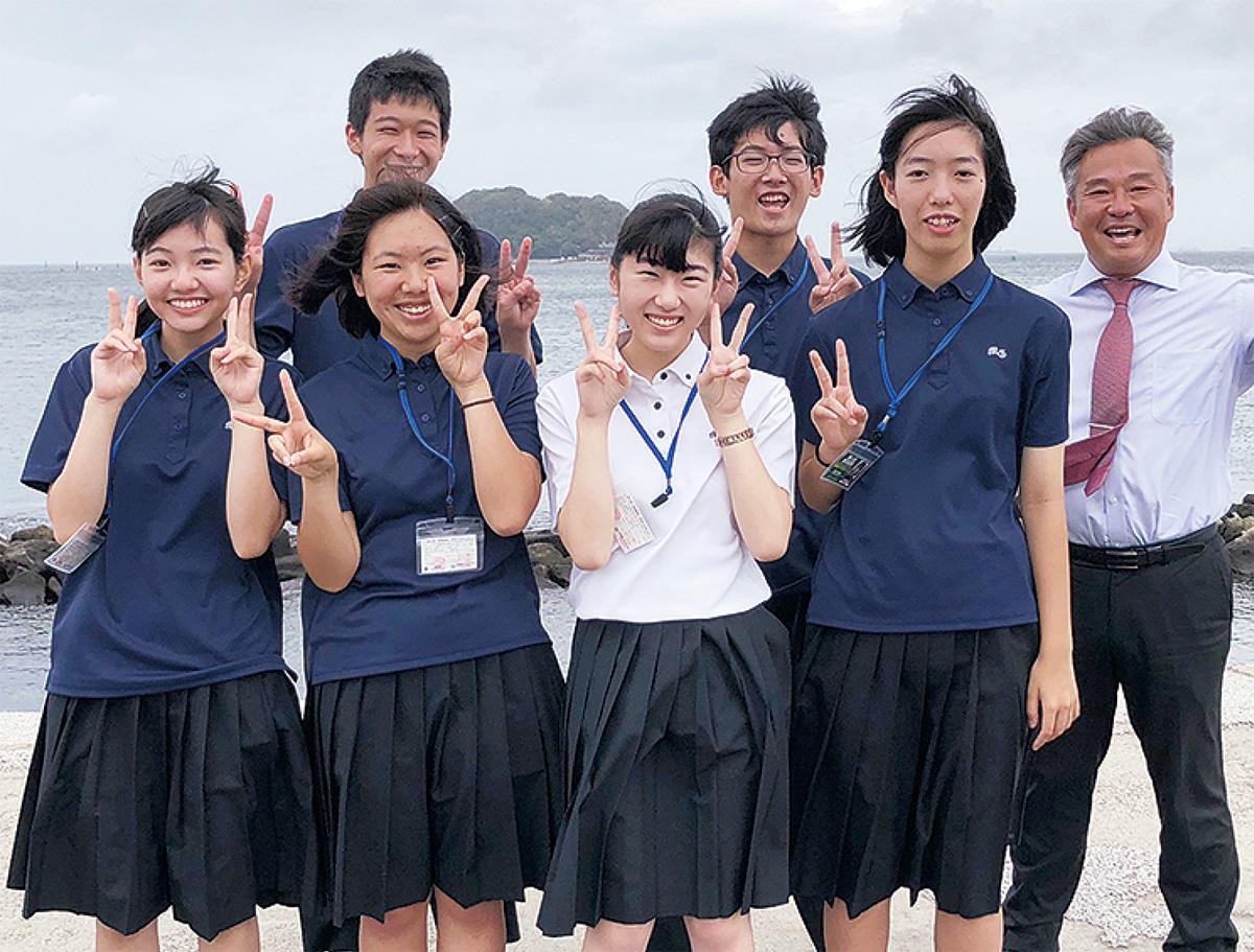 高校生が猿島の魅力発信