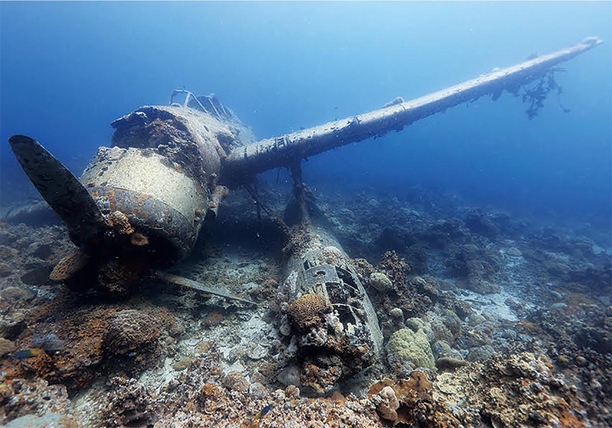海底に眠る戦争遺産