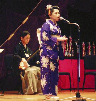 総合優勝した木村広士桜さんのステージ