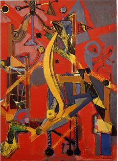 《ガラス工場》1954年、高松市美術館  蔵油彩・カンヴァス、100.0×73.0