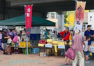 「会津」ののぼり旗が立ったブース